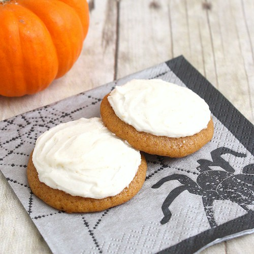 Pumpkin Cookies with Brown-Butter Icing | Tracey's Culinary Adventures