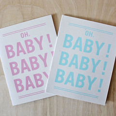 Congrats Baby Card (sass&peril) Tags: pink blue baby card congratulations congrats frenchpaper screenprinted sassandperil