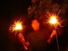 Phool Jhari & the man (Adrakk) Tags: india festival fireworks cracker diwali firecracker ptard inde feudartifice pataka dipavali