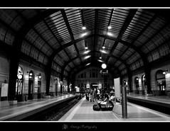 waiting..... (georgia-l (Busy)) Tags: blackandwhite bw black blancoynegro blanco monochrome train subway greek mono blackwhite nikon candid negro hellas greece blanc nero negre railstation candidphotography stasion invernale blackwihte negroblanco blackwhitephotos d5000