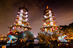蓮池潭 (StagnantLife & Bearangel) Tags: night nikon scenery long exposure shot taiwan tokina 高雄 f4 1224 蓮池潭 d5100