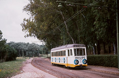 Lisboa 910 Estadio 1974 (Guy Arab UF) Tags: portugal car lisboa lisbon tram electricos cruz estadio trams bogie 910 taunton quebrada maley