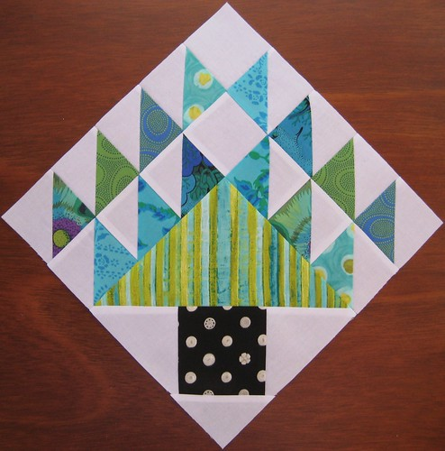 Pine Tree block for Krista (Stash Trad Bee)