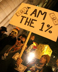 """I am the 1%"" Costume at the 2011 Halloween Parade - NYC"