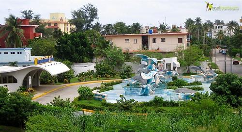 Aerial View of National Aquarium in Havana Cuba