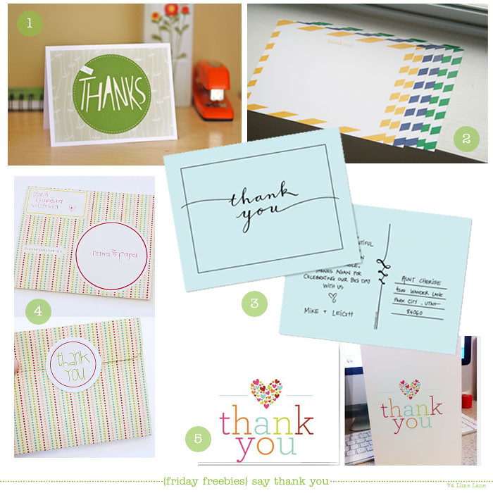 {friday freebies} say thank you