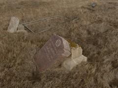 Remember Alderson (Forgotten Corner Photo) Tags: abandoned cemetery death tombstone alberta fallen dreams granite ghosts disappointment disrepair alderson prairieghosttown