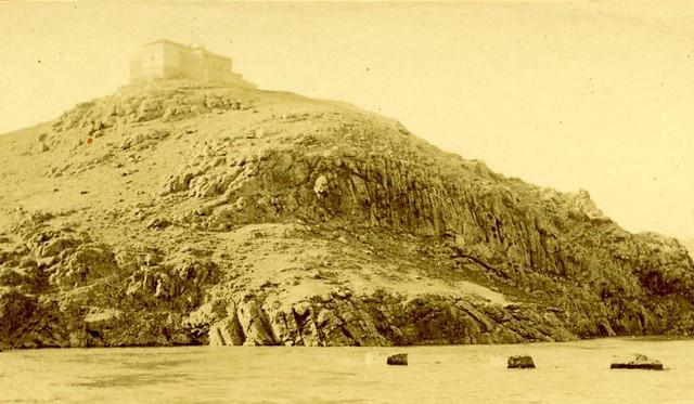 Ermita de la Cabeza a comienzos del siglo XX. Detalle de una fotografía de Pedro Román Martínez