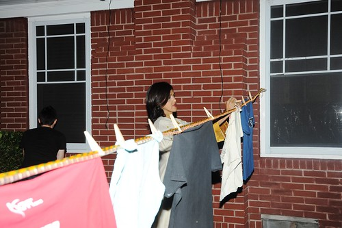 Sehba Sarwar hanging clothesline installation