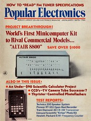 Popular Electronics with MITS Altair 8800 on the cover