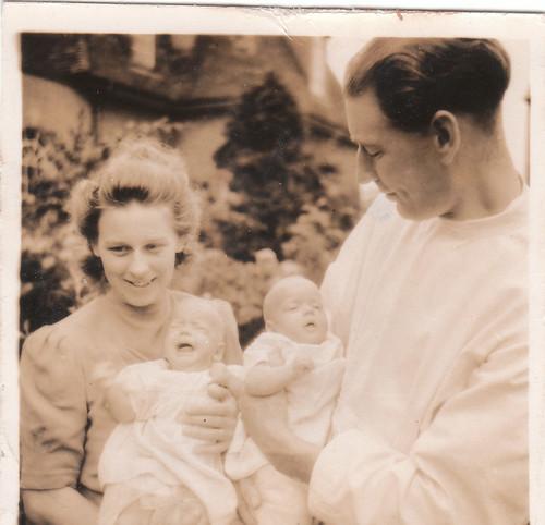 KMF & FVF with twins 1947