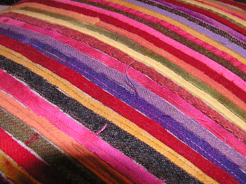 Wool Strips Pillow 3
