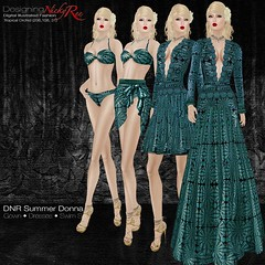 DNR Summer Donna Square Posters Teal (designingnickyree) Tags: bikini dresses gowns sarongskirt nickyree slfashion resortfashion