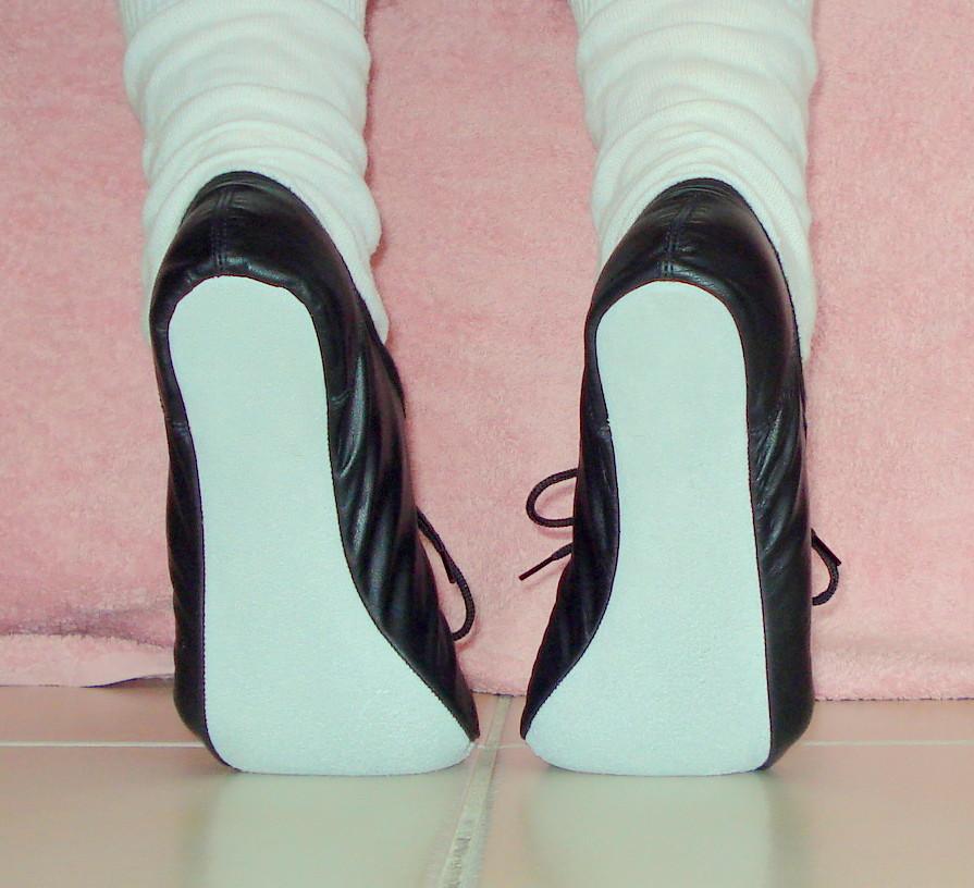 Soft ballet slipper fetish