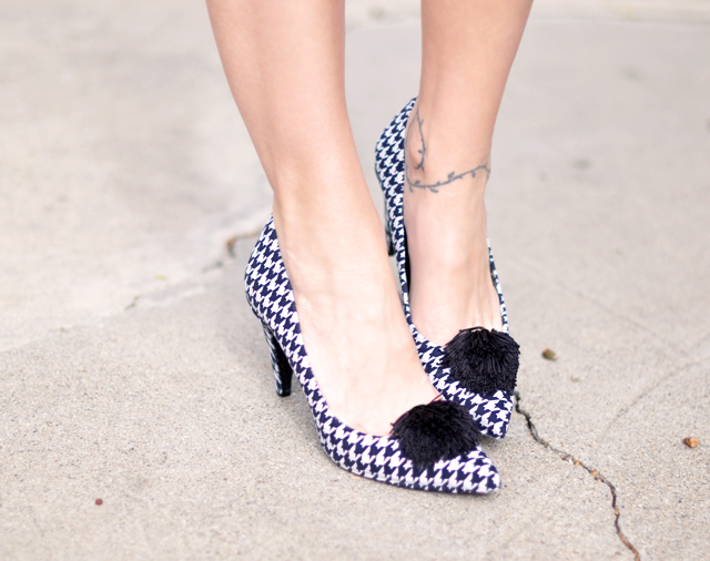 houndstooth shoes-diy houndstooth
