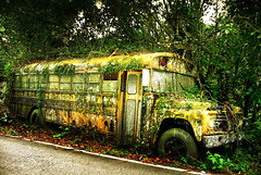 No more fuel #2 (esyckr) Tags: school bus nature forest puertorico apocalypse yello