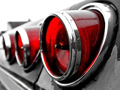 Impala tailights () Tags: auto red usa blur color macro classic chevrolet car america lights photo washington cool nice automobile close state image united rear picture culture retro nostalgia chevy bumper chrome photograph american hotrod vehicle nostalgic americana tacoma states custom taillights 1965 selective worldcars blurism