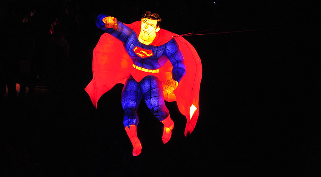 Superman at the Seoul Lantern Festival