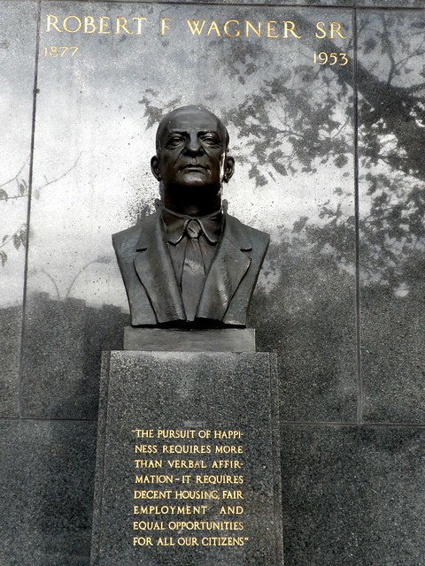 Robert F. Wagner Sr Statue, East Harlem, New York City