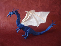 Western Dragon v3 (shuki.kato) Tags: paper origami dragon fantasy v3 western fold complex tracing kato shuki