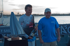 Emirates Team New Zealand skipper Dean Barker (SBGrad) Tags: sailboat nikon sailing sandiego catamaran sail regatta nikkor 50mmf18d americascup alr 2011 d90 acws ac45 americascupworldseries