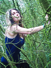 #23 (emifly) Tags: trees portrait green self woodland woods branches figure figurative ophelia preraphaelite selfie