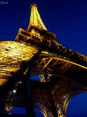 Bon Soir Tour Eiffel (Wipeout Dave) Tags: lighting paris tower monument architecture lumix lights evening dusk eiffeltower illumination landmark toureiffel gustaveeiffel wipeoutdave