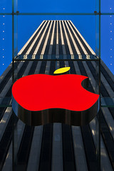 The Big Apple (Oufti!) Tags: city usa ny newyork building apple colors lines architecture america us gm colorful symbol graphism gmbuilding amerique blinkagain benjacquet