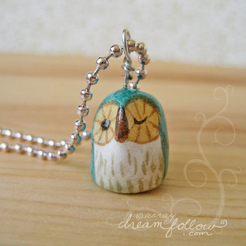 tiny owlet necklace