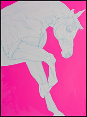 Porcelain on Pink (Yaheya) Tags: horse painting acrylic canvas equine