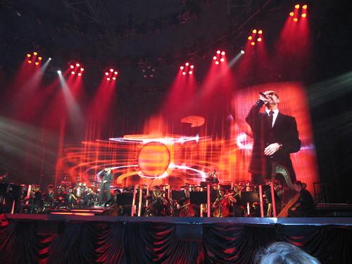 George Michael - Symphonica Tour - München Bühnenaufbau