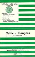 Celtic v Rangers 19740105 (tcbuzz) Tags: club 1 scotland football glasgow celtic division rangers programme parkhead