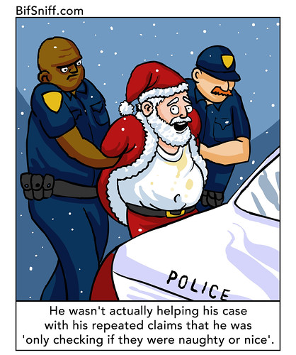 Santa Arrested by Ludie Cochrane, on Flickr