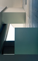 Architecture 37 (Ximo Michavila) Tags: blue roof light shadow urban abstract building green geometric lines silhouette metal architecture concrete grey pillar perspective sydney architecturephotography archidose ximomichavila