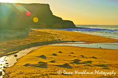 Brightness of the Sun (Dawn Woodhouse) Tags: sea sun beach sunrise bright australia nsw garie wow1
