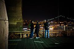 (TheDigitalVisual) Tags: street nyc newyorkcity bridge brooklyn night fuji streetphotography brooklynbridge afterdark x100 fujix100