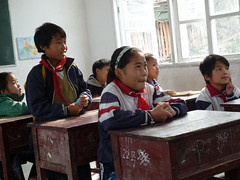 Students Learning (ToGa Wanderings) Tags: china school boy mountain students girl youth rural children kid education asia village classroom desk south traditional chinese young culture row learning guizhou miao simple ethnic engaged minority province desks xijiang weekwithoutwalls baibi