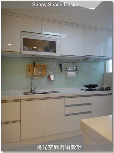 內湖星雲路莊小姐一字型+吧檯廚具-陽光空間廚衛設計16
