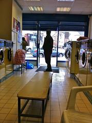 Jalpa's Laundrette (jovike) Tags: people man london shop retail machine iphoto barnet newbarnet iphone espe