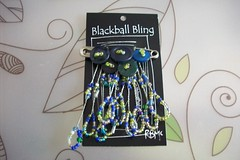 Blackball Bling Blueygreen Brooch, beads, buttons (BlackballBling) Tags: original abstract necklace beads artist handmade brooch earrings etsy buynow blackballbling currantlyoddfellows