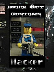 Brick Guy Customs: Hacker (The Brick Guy) Tags: lego hacker custom cyberpunk snowcrash minifigure metaverse hiroprotagonist brickarms legocontestnetwork brickguycustoms