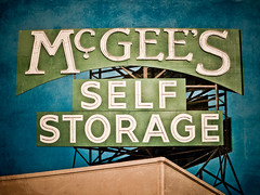 SoCal Self Storage - McGee's Closet (Shakes The Clown) Tags: california old signs texture up vintage typography lights flickr neon illumination retro signage font scaffold signlanguage sanfernandovalley venturablvd texturelayer canon5dmarkii