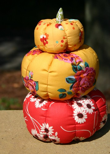 Fabric Pumpkins - stacked