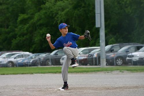 Blake pitching