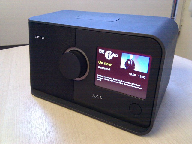 Revo Axus with Radio 1Xtra trial slideshow RadioVIS