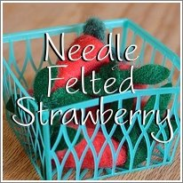 Needle Felted Strawberry Tutorial