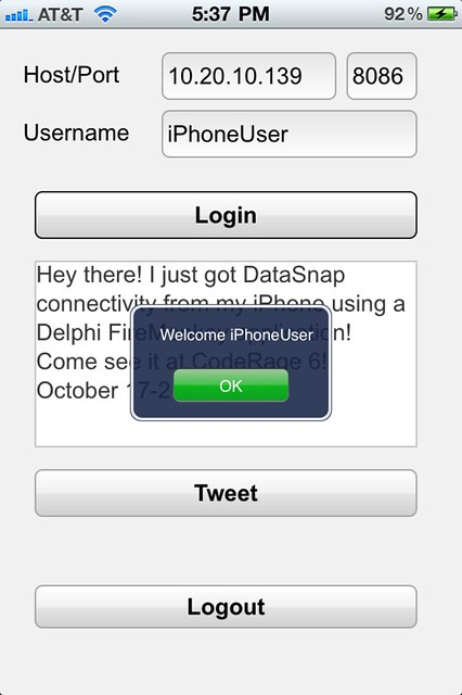 DataSnap on iOS