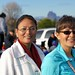Office of the Navajo Nation President and Vice President staff Laphillda Tso and Dawn Yazzie at the parade line up during the 100th Northern Navajo Fair in Shiprock, NM. Photo by Jared King / NNWO.  This Navajo Nation Washington Office photograph is being made available only for publication by news organizations and/or for personal use printing by the subject(s) of the photograph. The photograph may not be manipulated in any way and may not be used in commercial or political materials, advertisements, emails, products, promotions that in any way suggests approval or endorsement of Navajo Nation President Ben Shelly.