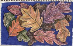 leaves (vicmelhorse) Tags: mixedmedia zentangle
