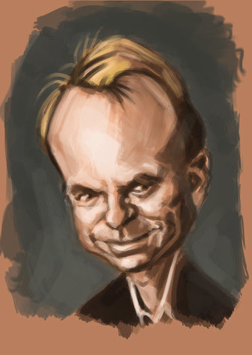digital caricature of Sam Neill - 1